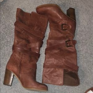 Shoes - Rust preowned Italian leather boots